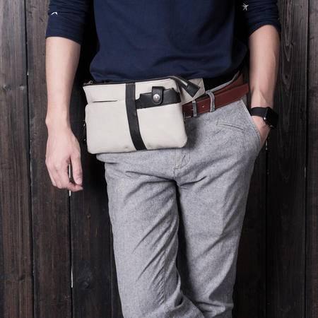 佑一良品斜挎包男款小胸包休闲韩版潮单肩包手机包包运动腰包背包