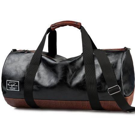 佑一king系列英伦潮酷运动包女手提斜挎包男健身包休闲旅行包桶包