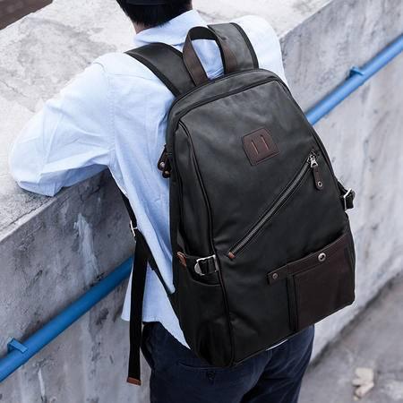 佑一良品潮男双肩包休闲男包时尚背包电脑包学生书包时尚旅行包包