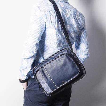 佑一良品男士斜挎包单肩包男休闲潮包 运动斜跨包韩版时尚邮差包