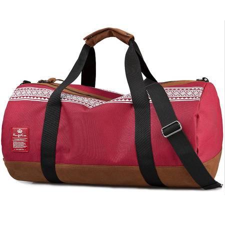 佑一king系列英伦运动包男女手提斜挎包休闲健身包旅行桶包圆筒包