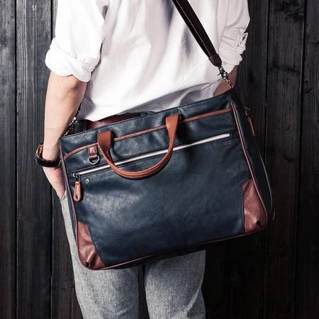 佑一良品男包韩版潮商务休闲公文包电脑包男士单肩包手提斜挎包包