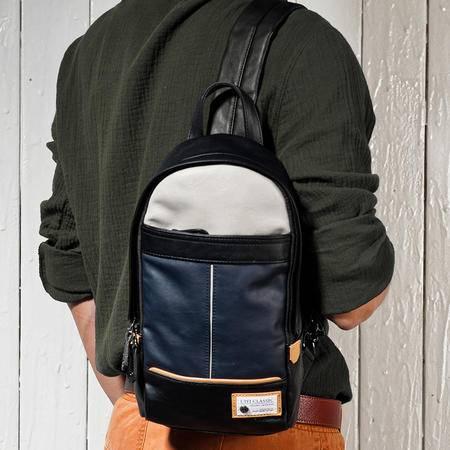 佑一良品夏季新款胸包韩版男包休闲运动潮单肩包斜挎跨包ipad背包