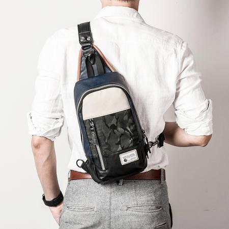 佑一良品休闲潮流男士胸包单肩包斜挎包韩版迷彩运动骑行背跨包包