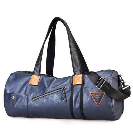 佑一良品休闲男包手提包单肩包圆筒包男士背包健身包女旅行运动包