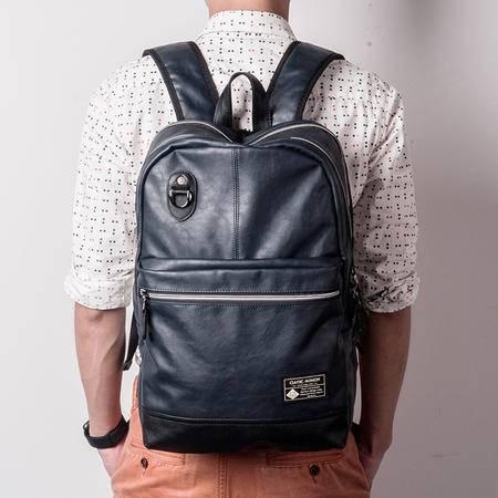 佑一良品运动休闲双肩包男女背包韩版潮皮学生书包商务14寸电脑包