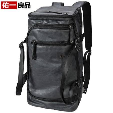 佑一良品新款韩版男士双肩包潮男包大容量运动背包女旅行包手提包