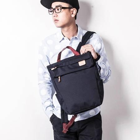 佑一良品HMF系列双肩包男背包女学生书包韩版潮涤纶布休闲旅行包