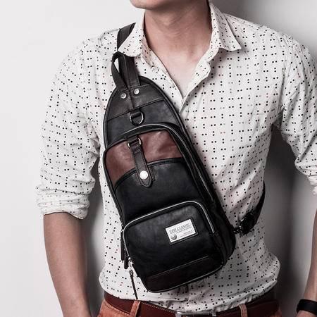 佑一良品男士胸包斜跨胸前包单肩挎包小背包休闲韩版潮运动骑行包