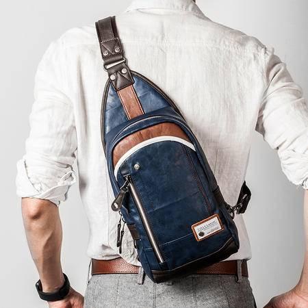 佑一良品男斜挎包胸包男士单肩跨包斜背包运动学生韩版潮休闲小包