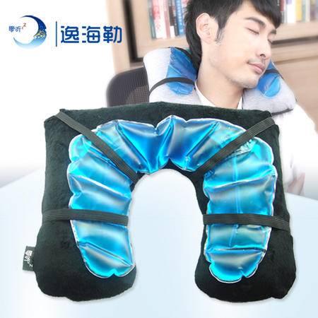 零听冷热敷护颈枕充气U型枕头 冰袋护颈冷热便携U枕头枕