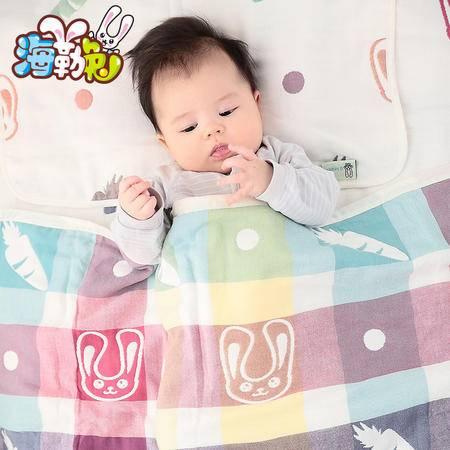 海勒兔儿童棉被 六层有机纯棉卡通被子 幼儿园空调被105cmX110cm