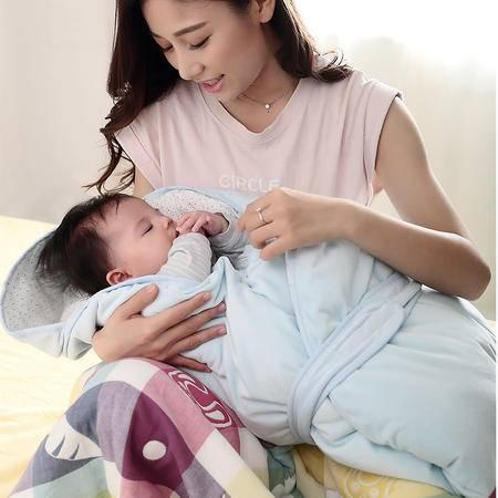uhealer海勒兔 天鹅绒婴幼儿抱被新生儿抱被精硫棉睡袋 秋冬加厚款