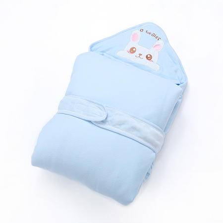海勒兔  秋冬季纯棉加厚抱毯 精梳棉新生儿婴儿抱被包邮