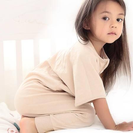 海勒兔秋冬长袖中厚婴儿宝宝防踢被 儿童纯棉分腿式睡袋 XL码