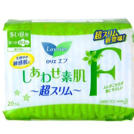 花王乐而雅 超薄F系列卫生巾量多日用护翼型22.5cm 20片