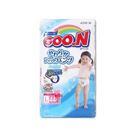 大王/GOO.N拉拉裤日本原装进口成长学步裤 大号L44片 女宝宝