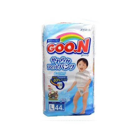 大王/GOO.N拉拉裤日本原装进口成长学步裤 大号L44片 男宝宝