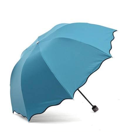 心诺 蓝色创意折叠伞 遇水开花晴雨伞HM45