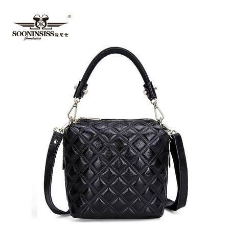 小香风女士包包欧美时尚女包菱格水桶包单肩包小包斜跨包手提包