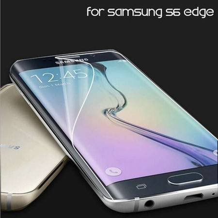 三星S6 edge plus G9280防爆膜S6edge+软膜曲面全覆盖纳米防爆高清膜 3个优惠装