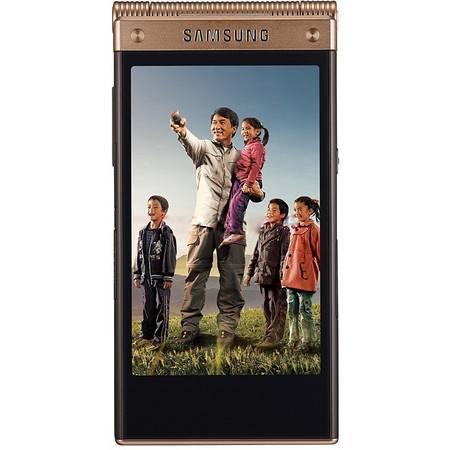 Samsung/三星 SM-W2015 电信4G 翻盖手机 双模双待(金色)