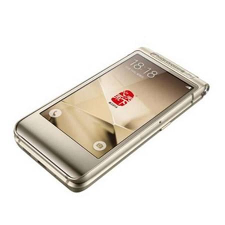 三星(SAMSUNG) W2016 电信4G手机 双卡双待 尊贵金 标配