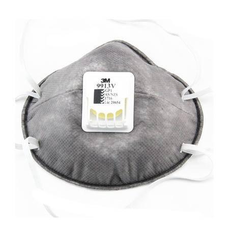 3M 9913V有机蒸汽异味及防颗粒物口罩 防装修甲醛异味 PM2.5 带呼吸阀(头带式)(10只/