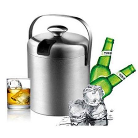戴德 不锈钢酒具配件双层冰桶连冰夹DK038