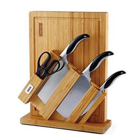 戴德 不锈钢德国菜板刀座套刀组合6件套DA001