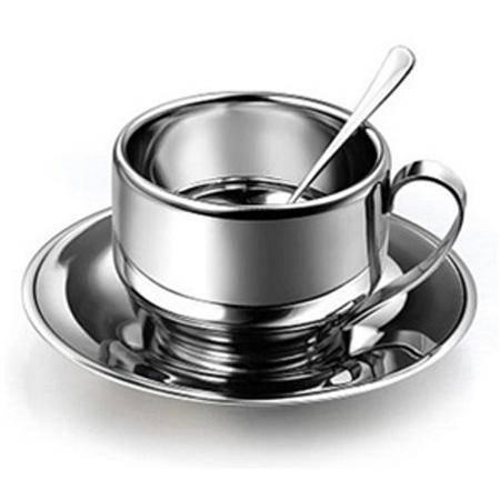 戴德 不锈钢咖啡杯咖啡具碟勺3件套装DK006