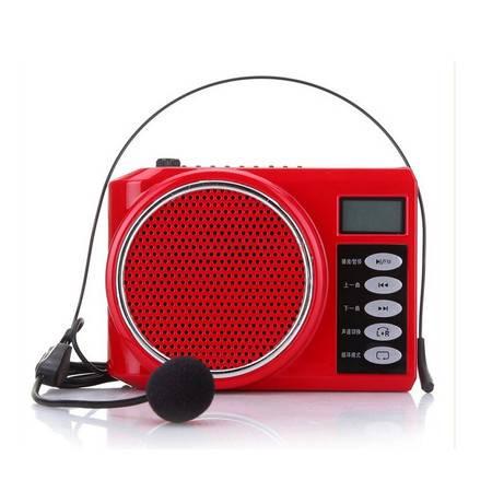 爱课(AKER)AK58 扩音器液晶显示数字选曲FM收音录音便携腰挂喊话器小蜜蜂扩音