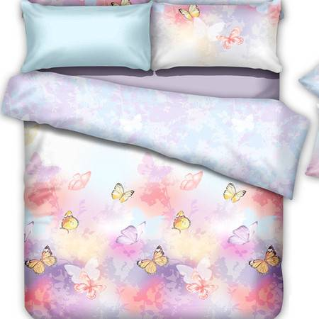 恒源祥家纺床上用品舒适天丝双面四套件印花规格220*240
