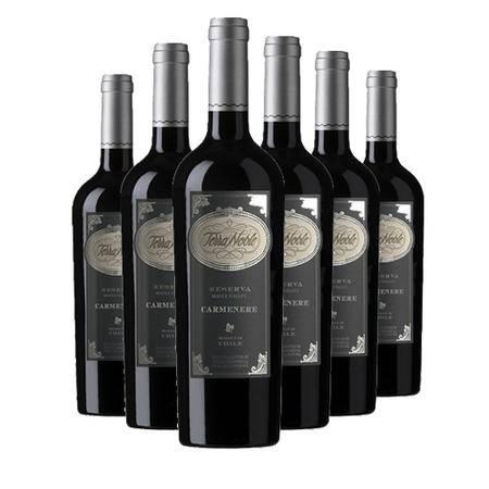 智利泰瑞贵族酒庄珍藏佳美娜干红葡萄酒 原瓶进口 6支装