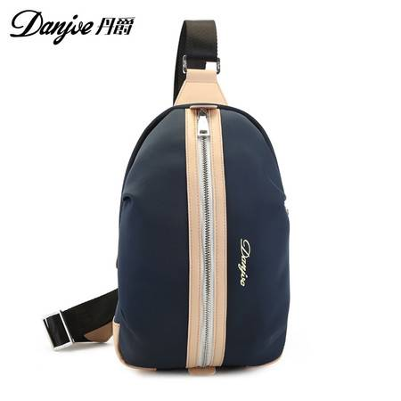 丹爵新款胸包男女运动户外腰包休闲韩版旅行包帆布背包斜挎包D8041