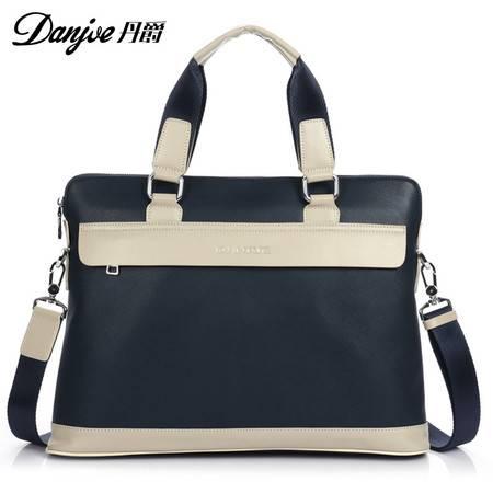 新款 正品丹爵 商务手提包 休闲单肩包 韩版潮包 男士皮包 男包D8805-1