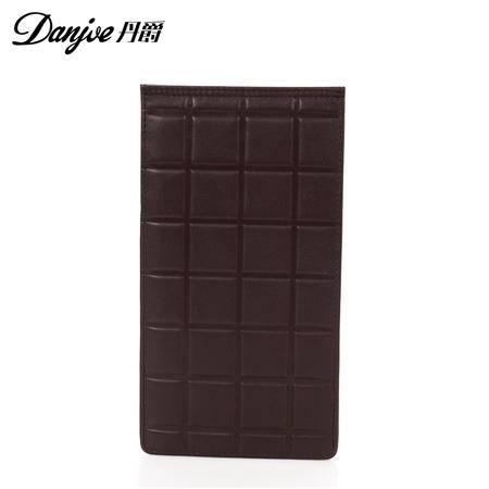 新款 正品丹爵 巧克力图案 头层牛皮 超多卡位 真皮卡包 卡片包