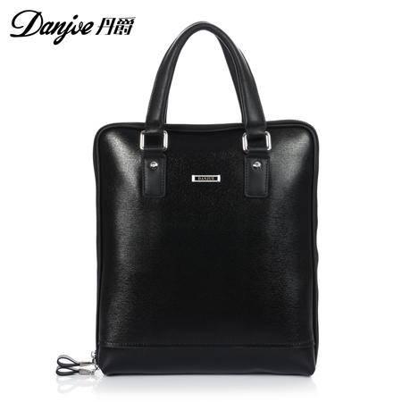正品丹爵 新款 男士商务手提包 休闲男包 男士包包 皮包 包80076-3