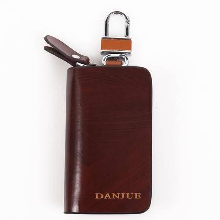 正品丹爵 牛皮 实用高档 商务休闲 汽车钥匙包 双色可选D6201