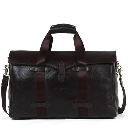 丹爵牛皮大容量手提包单肩包斜跨包男包商务旅行袋旅行包D3552-7