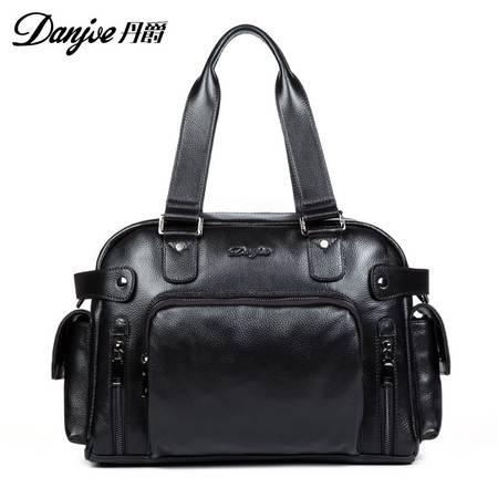 丹爵(DANJUE)新款头层牛皮手提包商务公文包休闲品质男包D8075