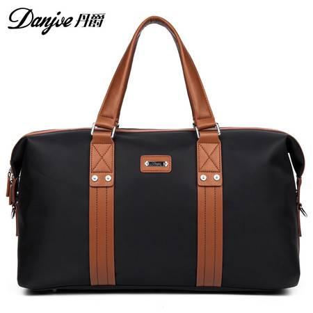 丹爵新款时尚休闲行李袋 大容量手提包 撞色牛津布防水包 商务短途出差旅行包D8072-1