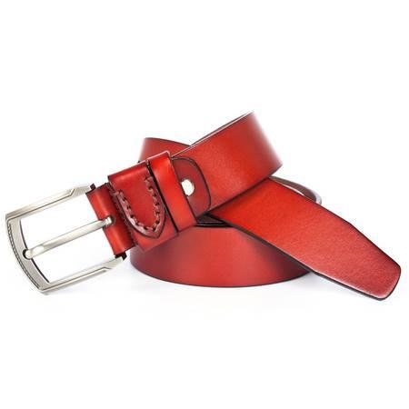 丹爵(DANJUE)男士针扣休闲皮带牛皮时尚潮流腰带百搭腰链2016新款皮带21