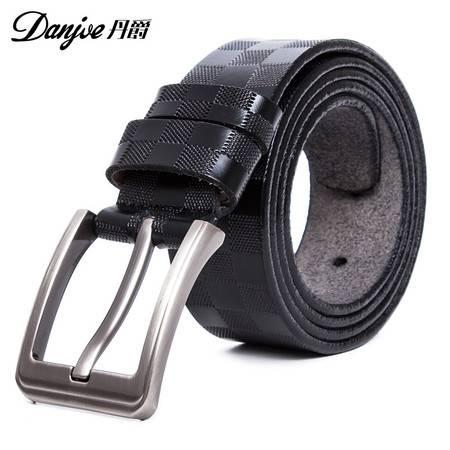 丹爵(DANJUE)男士皮带针扣优质牛皮男款商务休闲牛皮腰带裤带 皮带12