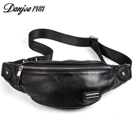 丹爵(DANJUE)新款男式休闲胸腰包时尚潮流头层牛皮胸包胸包D8081
