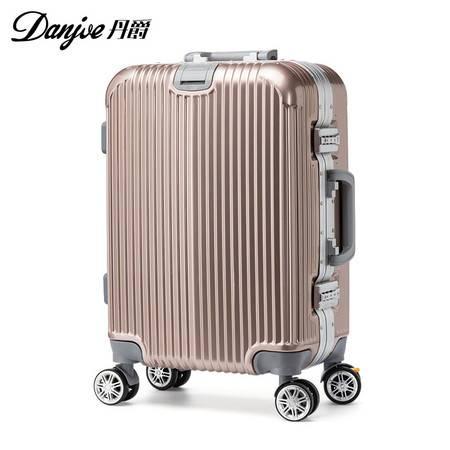 丹爵(DANJUE)新款铝框拉杆箱男女通用行李箱 ABS+PC材质 万向轮旅行箱 D23