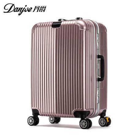 丹爵 丹爵新款时尚登机箱拉杆箱20/24寸万向轮箱子ABS+PC密码箱拉杆箱D27