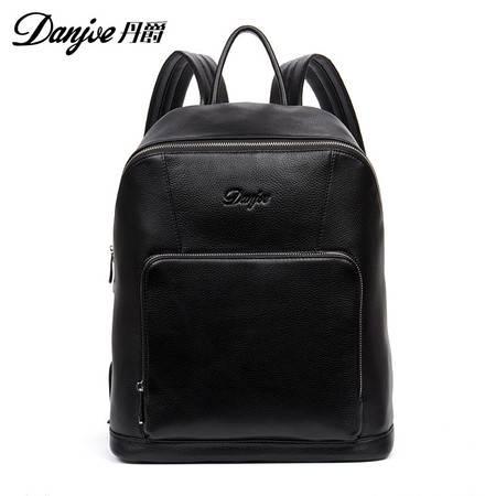 丹爵 丹爵(DANJUE)新款时尚牛皮男士双肩包电脑背包旅行背包休闲男包8875-1