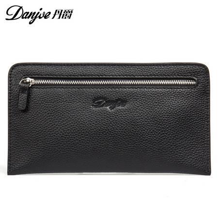 丹爵  丹爵(DANJUE)新款男包 商务休闲手拿包头层牛皮男士手包时尚薄款钱包卡包 D8096