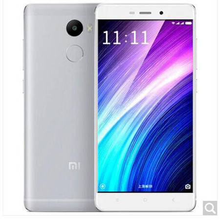 小米 红米4 全网通 4G手机 3GB+32GB 银色 高配版